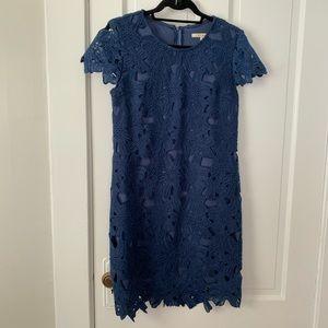 Francesca's Collection Navy Lace Dress